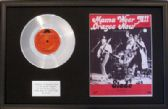 "SLADE - 7"" Platinum Disc+Song Sheet- MAMA WEER ALL CRAZEE NOW"